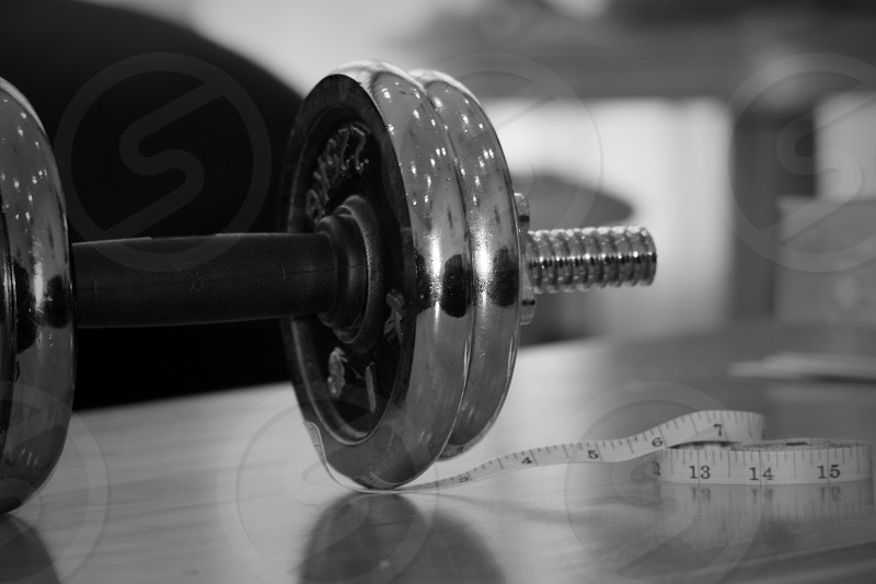Black & White weight fitness measurement  photo