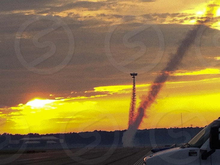 sunset airshow photo