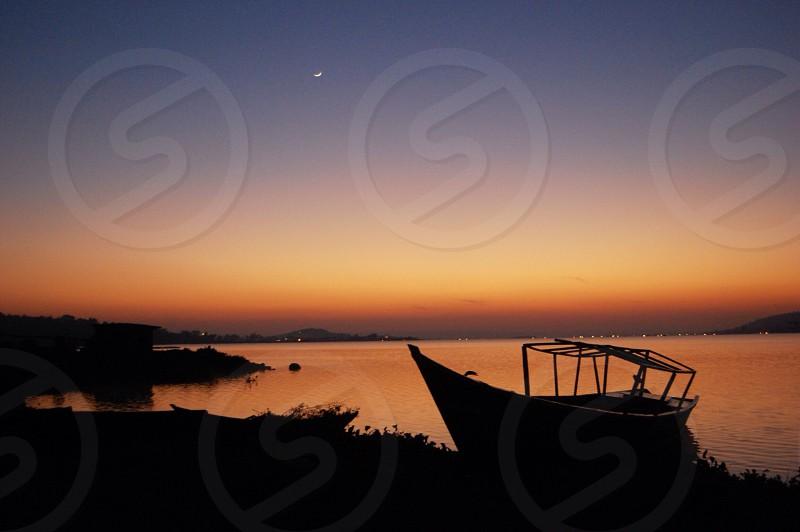 boat silhouette  photo