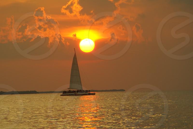 white sailboat in sea photo