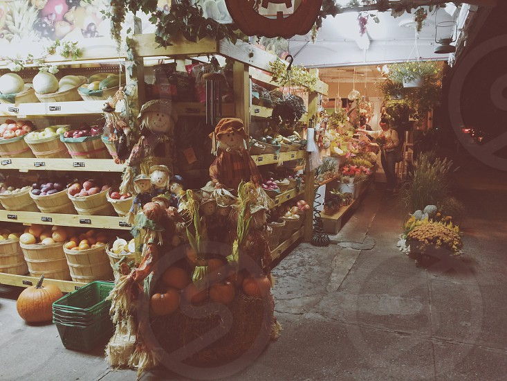Vegetable stands in Brooklyn NY photo