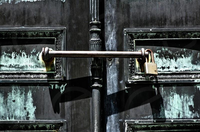Door with Padlock photo