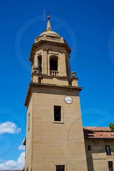 Granon church in The way of Saint James in La Rioja Logrono photo