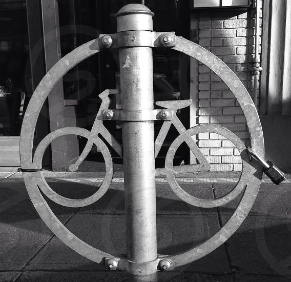 bicycle parking signage photo