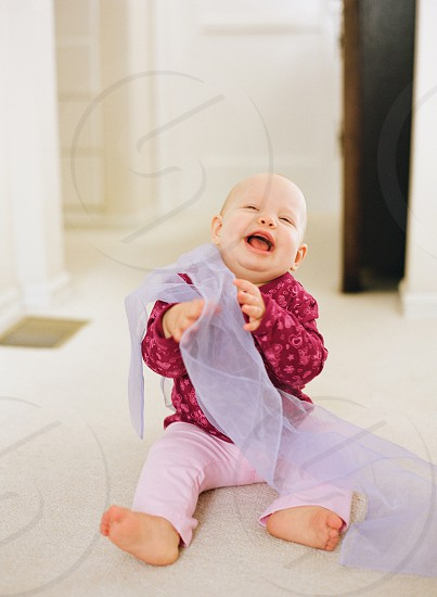 baby infant girl daughter family home play laughing photo