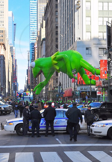 green frog balloon decoration photo
