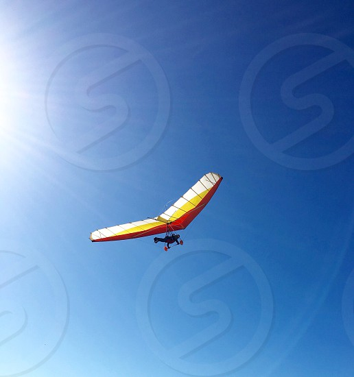 Hang glider at Fort Funston in San Francisco California hang gliding extreme sports adventure photo