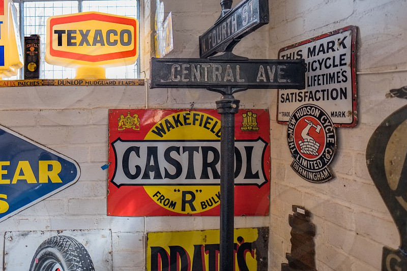 Old Motoring Signs in the Motor Museum at Bourton-on-the-Water photo