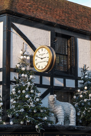 TUNBRIDGE WELLS KENT/UK - JANUARY 4 : Christmas Display in Royal Tunbridge Wells on January 4 2019 photo