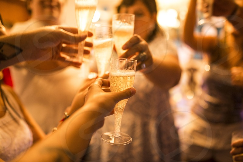 people party champagne glass toast photo