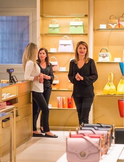 Female Employers Of A Ladies Handbags Retail Shop photo