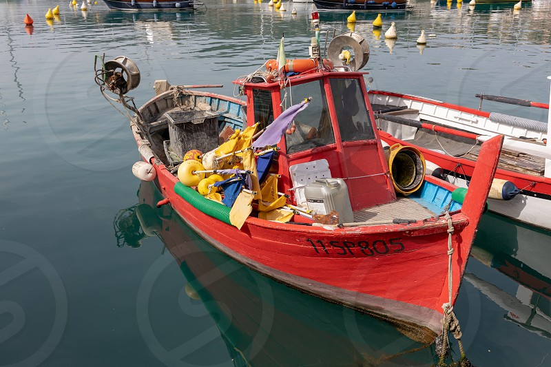 LERICI LIGURIA/ITALY  - APRIL 21 : Boats in the harbour in Lerici in Liguria Italy on April 21 2019 photo