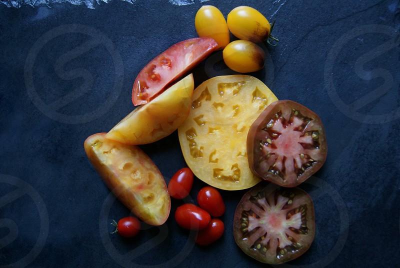 Tomatoes culinary homegrown farm fresh picked backyard farm urban farm farmscaping  photo