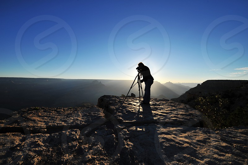 Photographer photographing Grand Canyon photo