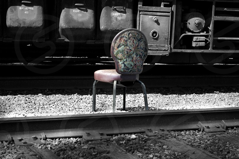 Lonely chair. photo