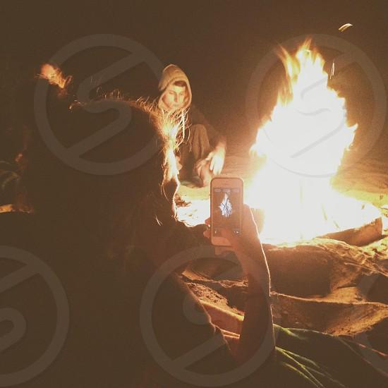 Fireside  photo