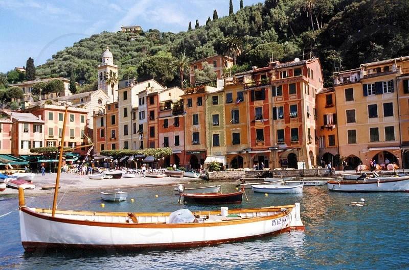 Boats in Capri Italy  photo