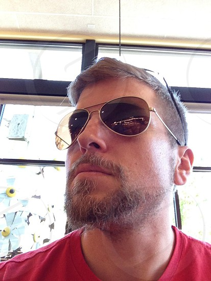 Glasses law authority beard chin strong portrait photo