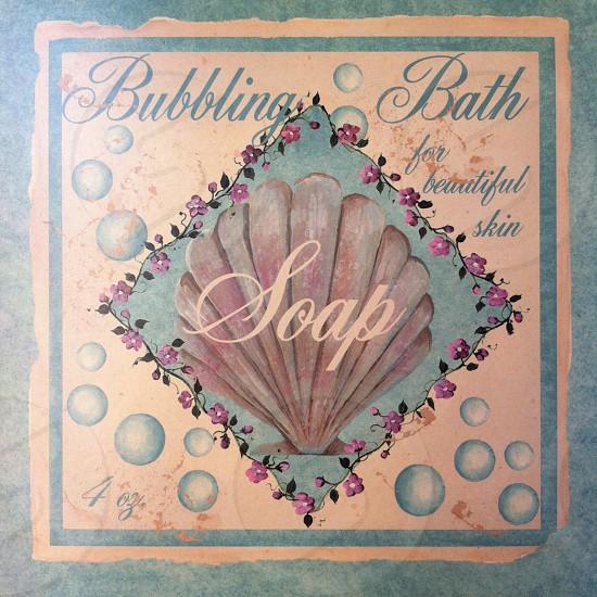 bubbling bath saop print photo