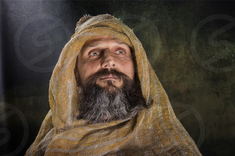 Portrait of a man in stole photo