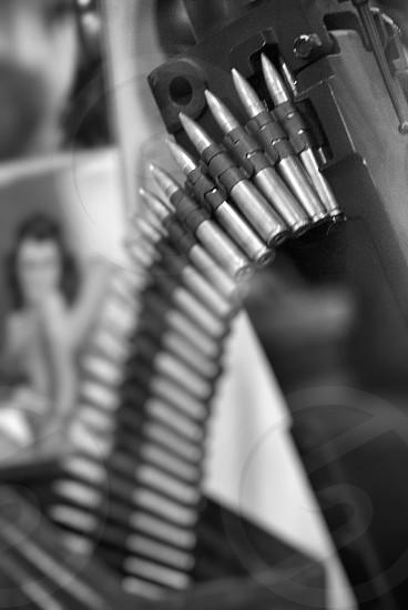 Belt of antique bullets photo