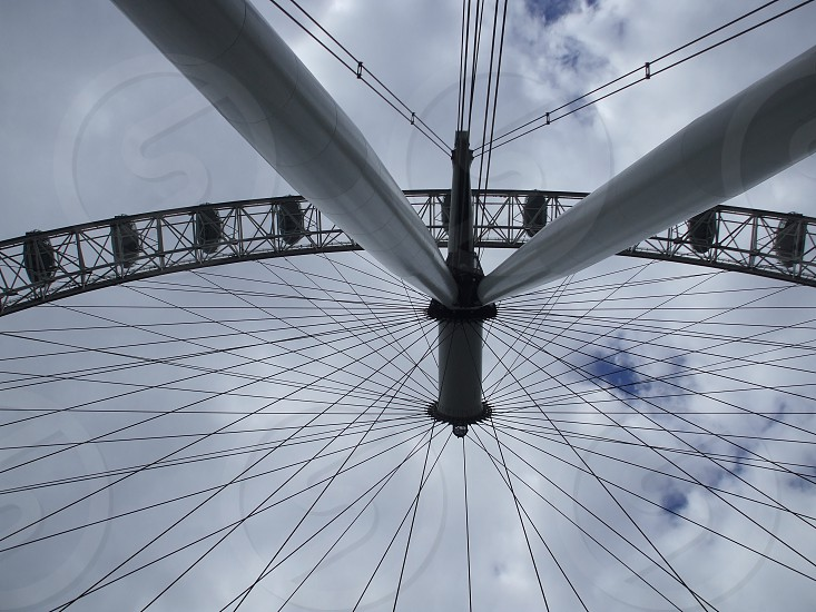 london eye view from below angle photo