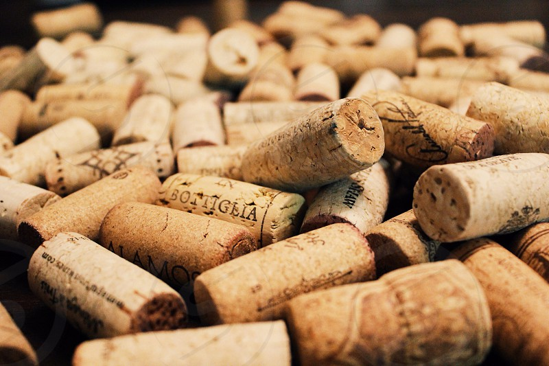 Cork wine bottle stopper group of objects food and drink wine corks alcohol wine tasting  photo