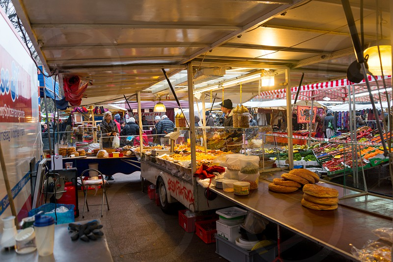 Saturday market at Winterfeldtplatz Schoneberg Berlin photo