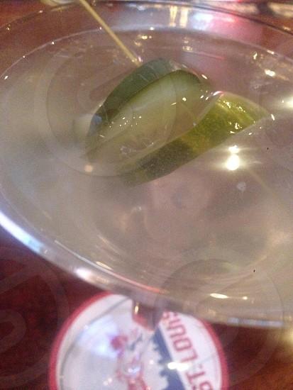 Pickle martini  photo