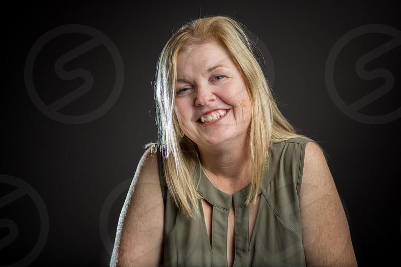 Portrait of a woman in a studio photo