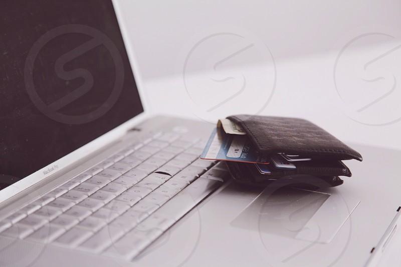 silver laptop photo