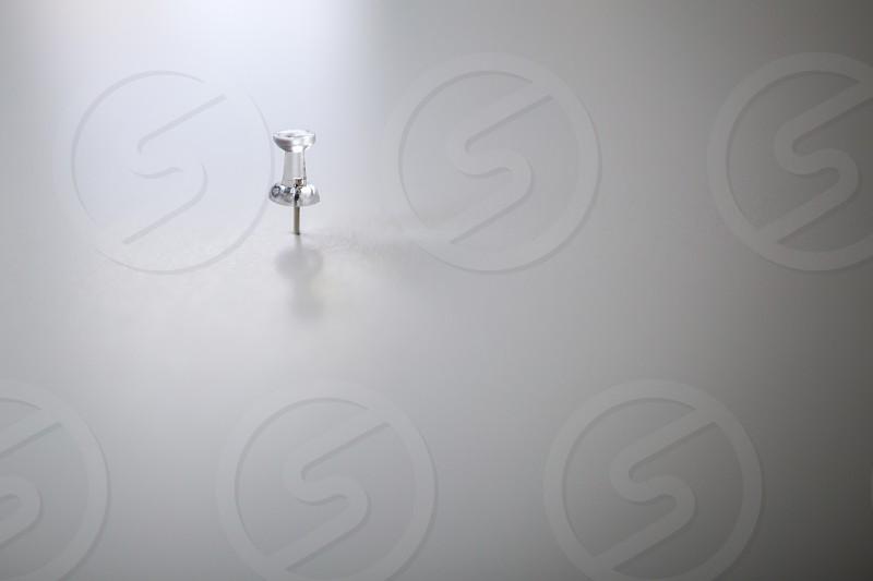 white push pin photo