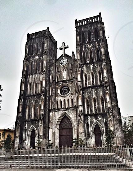 black and white church photo