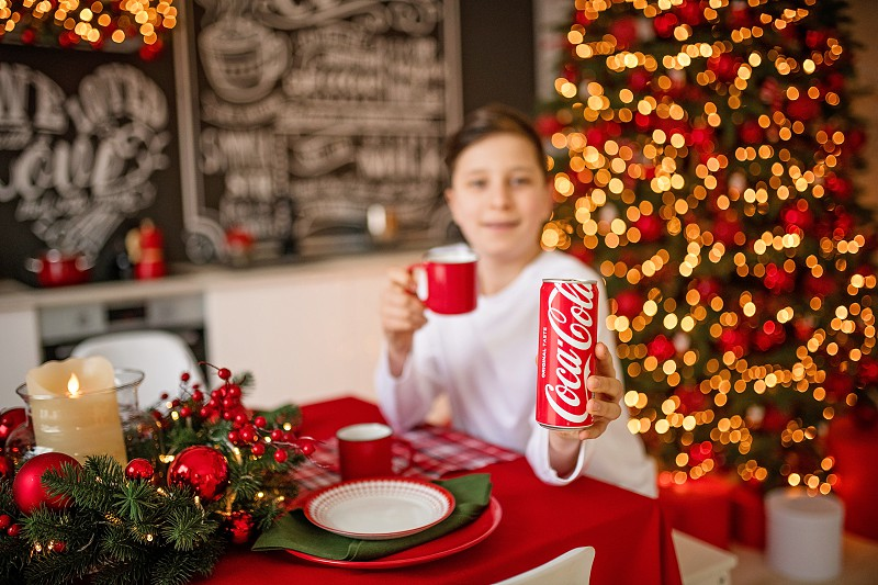 KIEV UKRAINE - DECEMBER 2019: bottle Of Coca-Cola photo