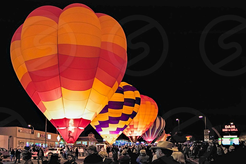 Night Display at the Page Balloon Festival photo