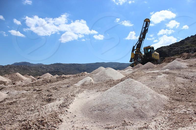 drilling rocks at minning industry photo