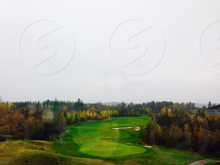 Golfing fall Minnesota lake vermillion  photo