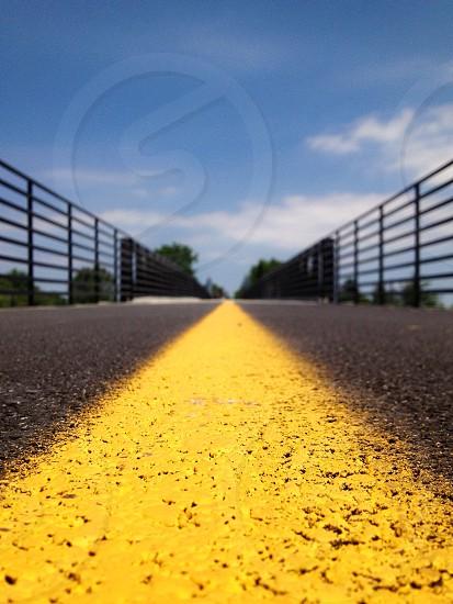 concrete roadway view photo