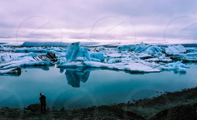 Glacier lagoon Iceland photo