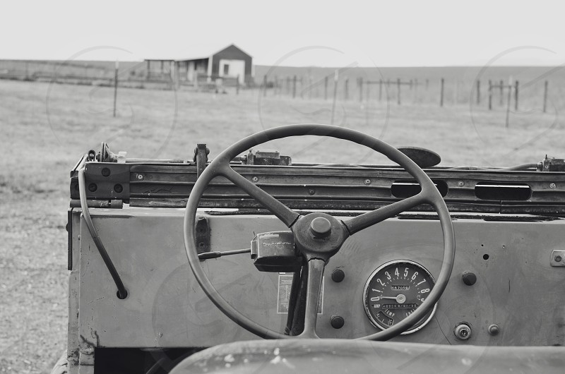 black steering wheel photo