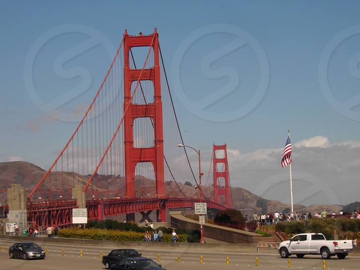 San Francisco Golden Gate Bridge. Just after left it. photo