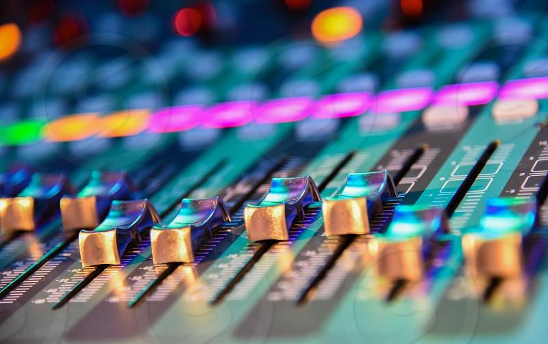 grey audio mixer photo