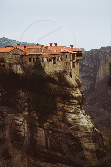 meteora greece europe monastery monk monks architecture rock church religion orthodox christian rocks landscape day photo