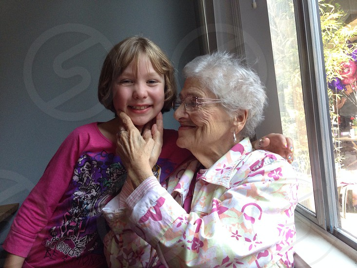 Great grandma and her oldest great granddaughter.  photo