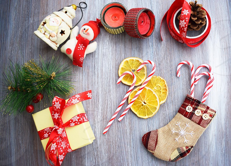 Christmas winter holidays gift candies photo