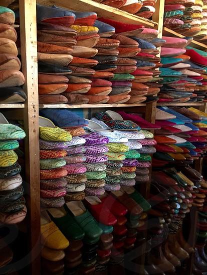 Leather tannery Fes Morocco medina photo