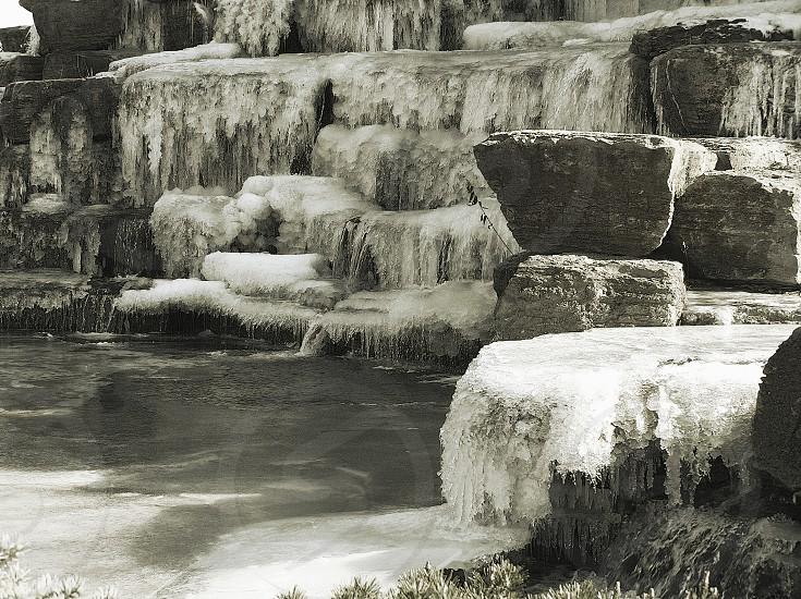 Icy fountain near Parkville MO photo