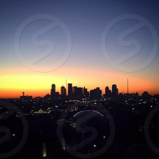 The Dallas skyline photo