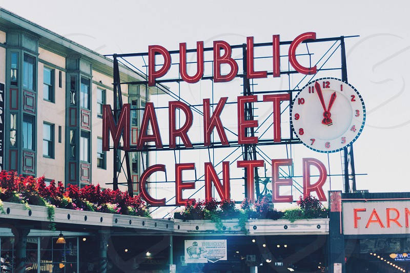 Seattle. Pike place - that sign that everyone takes a picture of. photo