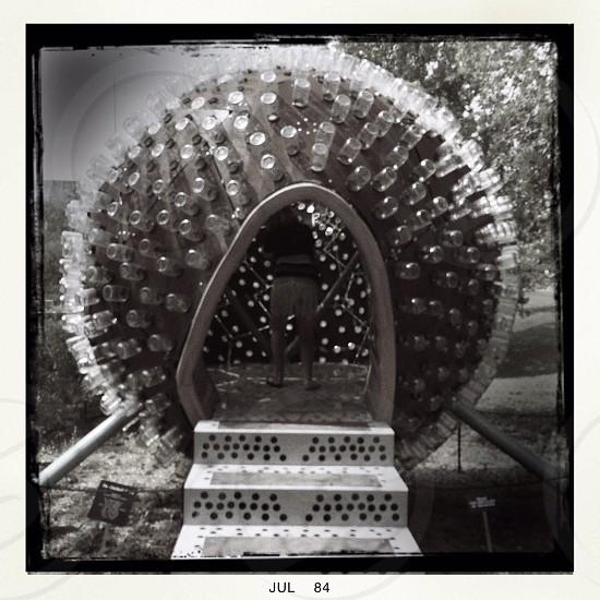 woman inside ball shaped room photo